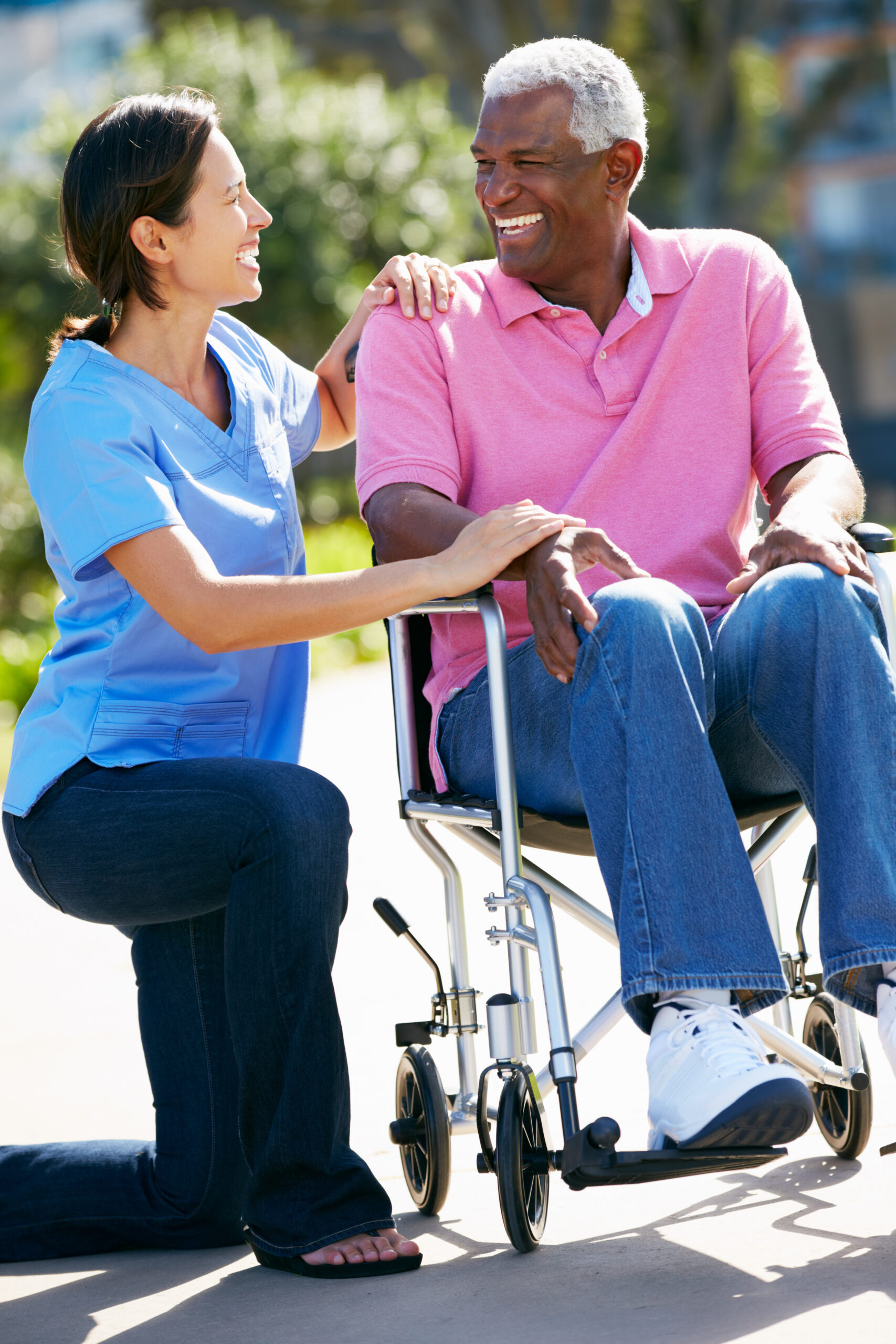 Caregiver and Man